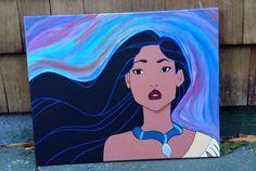 Disney Princess Painting Series Pocahontas by swimmalita on Etsy, $100.00