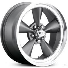 New 2015 U.S. Mags Standard U102 custom wheels, textured gray with diamond cut lip rims.