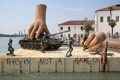 """This is not a game!!!"" Large public sculptures made to look like childhood toys. by Lorenzo Quinn"