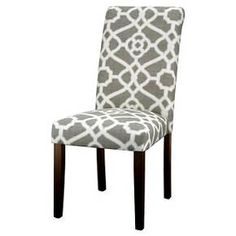 • On-trend, contemporary patterns <br>• Rich, pure cotton upholstered finish<br>• Stylish espresso legs<br>• Supportive, dacron foam cushions<br>• Sturdy hardwood frame<br>• Spot clean only<br>• Assembly required<br><br>Give your dining or living area a touch of comfortable elegance with the Avington, Print Accent Dining Chair. A seamless addition to your contemporary décor,...