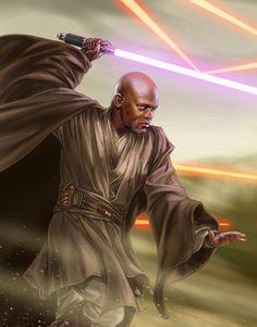 Mace Windu, by Chris Trevas - Star Wars