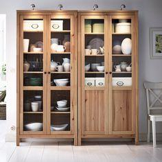#HEMNES glass-door cabinet.