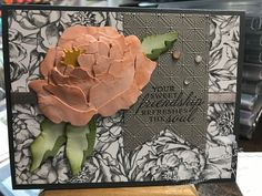Paper Peonies, Peonies Bouquet, Peony, Bouquets, Waterfall Cards, Peonies Garden, Stamping Up, Rubber Stamping, Cards For Friends