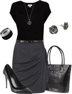 "Chic Professional Woman Work Outfit. ""Professional"" by gjs927 on Polyvore"