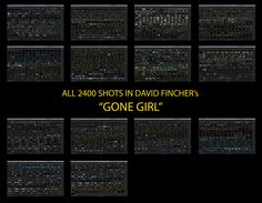 David Fincher Shot List 'Gone Girl' Gone Girl, Girl Film, David Fincher, Movie Shots, Shot List, Film Studies, Film School, Video Editing, Cinematography