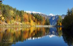 Reflection in Alto Adige by RenateDodell  2015 Trentino-Alto Adige/Südtirol alto adige autumn blue dolomiten dolomites dolomiti fall herbst it