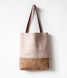 Clearance SALE Safari Beige Distressed Leather Tote bag by CORIUMI Leather  Bags Handmade f47b0eb116c49