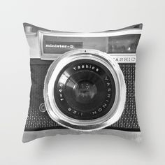 Camera Throw Pillow by Nicklas Gustafsson - $20.00 #oldschool #retro #camera #pillow #homedecor