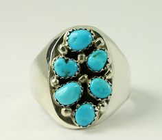 #Vintage Navajo #Sterling Silver Natural Turquoise Tapered Band Ring Size 12.75 #Jewelry #Fashion http://www.ebay.com/itm/-/272630258213?roken=cUgayN&soutkn=mtnggO via @eBay