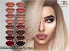 FRS Fiona Lipstick for The Sims 4 - Supermarket Riot The Sims 4 Skin, The Sims 4 Pc, Sims Four, Sims 4 Cas, Los Sims 4 Mods, Sims 4 Game Mods, Die Sims, Sims Cc, Sims 4 Cc Eyes