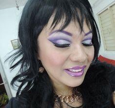 Maquillaje cut crease  Morado, Sexi Hallowen