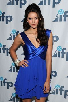 Nina Dobrev and a blue dress