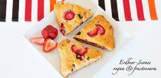 Erdbeer-Schoko-Scones glutenfrei, vegan & fructosearm