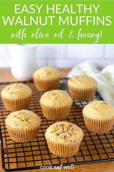 Egg Free Recipes, Real Food Recipes, Baking Recipes, Dessert Recipes, Olive Oil Muffin Recipe, Healthy Muffin Recipes, Healthy Muffins, Healthy Breakfasts, Desert Recipes