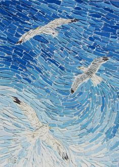 Soaring Gulls...you can almost feel the wind on your face as you watch the gulls ride the currents.
