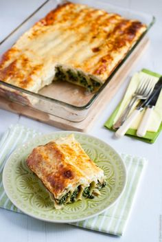Spinach Cheese Cannelloni w/ Greek Yogurt Topping.