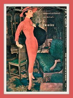 Vintage McCalls - Pauline Trigere Wiggle Dress Sewing Pattern 3826