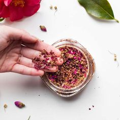 All brides are beautiful on their wedding day, but if you want to be positively radiant, consider adding this Glowing DIY Face and Body Scrub to your pre-wedding beauty routine. Beauty Balm, Diy Beauty, Flower Petals, Diy Flowers, Homemade Exfoliating Scrub, Sugar Scrub Diy, Sugar Scrubs, How To Make Rose, Beautiful Mess