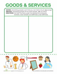 Worksheets: Examples of Goods and Services