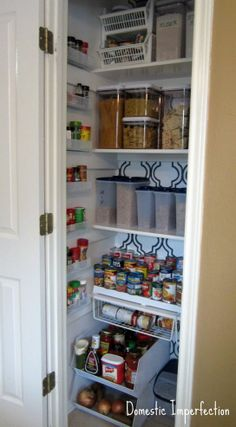 Stenciled and Organized Pantry