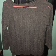Selling this Grey American Eagle Sweater in my Poshmark closet! My username is: kayliegariepy. #shopmycloset #poshmark #fashion #shopping #style #forsale #American Eagle Outfitters #Sweaters