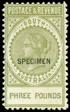 SOUTH AUSTRALIA - 1886-96 'POSTAGE & REVENUE' Perf 10 £3 olive-green as SG 202 but with 'PHREE POUNDS' Error ,… / MAD on Collections - Browse and find over 10,000 categories of collectables from around the world - antiques, stamps, coins, memorabilia, art, bottles, jewellery, furniture, medals, toys and more at madoncollections.com. Free to view - Free to Register - Visit today. #Stamps #MADonCollections #MADonC Cancun Hotels, Beach Hotels, Beach Resorts, Beach Trip, Hawaii Beach, Oahu Hawaii, Spain Travel, Mexico Travel, Vintage Hawaii