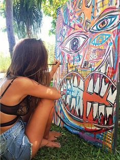 painting a large abstract piece outside Tachisme, Kunst Inspo, Art Inspo, Pale Tumblr, Dibujos Zentangle Art, Graffiti, Street Art, Art Hoe, Foto Art