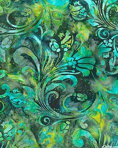 I turquoise & teal l Batik Pattern, Pattern Art, Pattern Design, Textures Patterns, Fabric Patterns, Print Patterns, Textile Design, Textile Art, Fabric Design