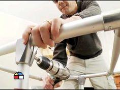 ¿Cómo hacer muebles con tubos de aluminio?, via YouTube.