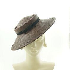 Brown Panama Straw Hat - Women's Boater Hat