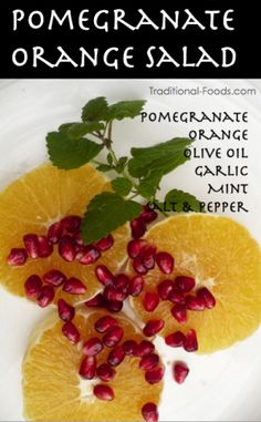 Pomegranate Orange Salad @ Traditional-Foods.com