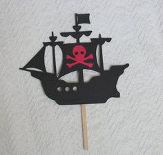 Pirate Ship Cake Topper by SimpleSensations on Etsy, $8.00