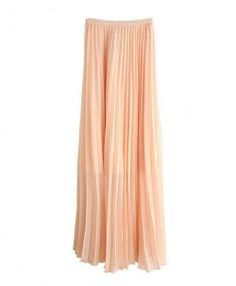 Pink Maxi Skirt with Pleats