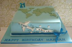 world airplane cake Map Cake, Cake Art, Cupcakes, Cupcake Cakes, Beautiful Cakes, Amazing Cakes, Globe Cake, Earth Cake, Travel Cake