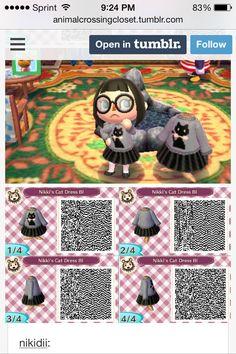 Animal Crossing New Leaf Cute Black Cat Dress  F0 9f 90 B1 E2 9d A4