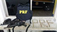 Por volta das 20 horas desse sábado (07/04), dois bandidos fortemente armados furaram o bloqueio daPolicia Rodoviária Feder...