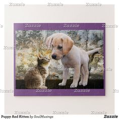 Puppy And Kitten Jigsaw Puzzle Adorable Cute Animals, Small Kittens, Make Your Own Puzzle, Custom Gift Boxes, Puzzles For Kids, Pet Puppy, Print Pictures, High Quality Images, Jigsaw Puzzles