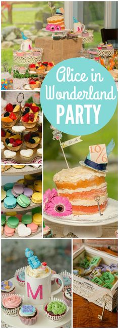 Check out this Alice in Onederland party for a first birthday! See more party ideas at CatchMyParty.com!