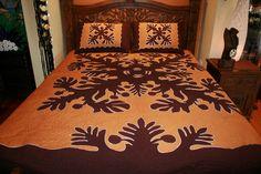 Kuru Enua Hawaiian Quilt Patterns, Hawaiian Quilts, Luxury Bedding, Quilting, Island, The Originals, Handmade, Crafts, Furniture