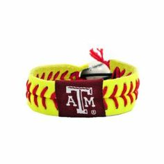 Texas A Aggies Classic Softball Bracelet by Gamewear, Inc.. $5.73. Raised stitches give the real feel of a softball. Made from real softball stitches and authentic softball leather. One-size-fits-all. Unique elastic softball bead closure. NCAA Texas A Aggies Classic Softball Bracelet