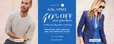 Banana Republic and Gap Canada Promo Code: Save 40% Off Your Purchase http://www.lavahotdeals.com/ca/cheap/banana-republic-gap-canada-promo-code-save-40/184916?utm_source=pinterest&utm_medium=rss&utm_campaign=at_lavahotdeals
