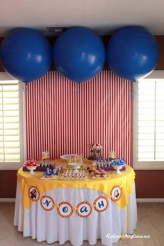 Totally my type of party set up! & Curious George Birthday Party -- Free Printableu0027s! | Share Your ...
