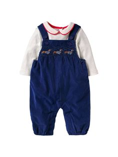 4c6b6eae BuyMini Boden Baby Nostalgic Dungaree Set, Beacon Blue, 12-18 months Online  at