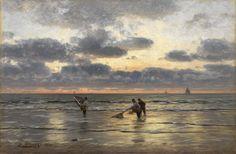 Fishing At Dawn Eugen Gustav Ducker - 1900