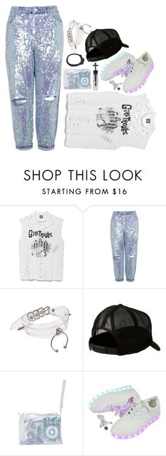"""""""punky pastel"""" by sworn-in ❤ liked on Polyvore featuring Manic Panic, Topshop, Quiksilver, Hollywood Mirror and Cast of Vices"""