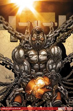 Colossus in chains by Larroca! Cable and X-Force #6 courtesy Marvel