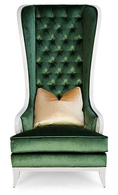 Christopher Guy chair. Pretty sure this chair was featured in Kim & Kourtney's NYC apartment treated in purple velvet.