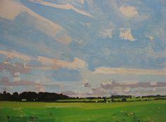 "Original Landscape Paintings by Harry Stooshinoff ""Hidden Field"""