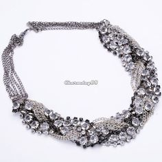 £2.80 China Women Jewelry Crystal Rhinestone Beaded Wrapped Choker Statement Necklace Chain in Jewellery & Watches, Costume Jewellery, Necklaces & Pendants   eBay