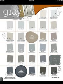 Grey paint  grey/tan for bedroom  grey/blue for living room